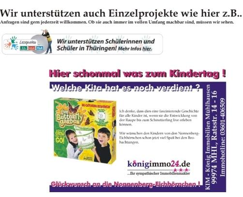 Unterstützung von Einzelprojekten zum Kindertag