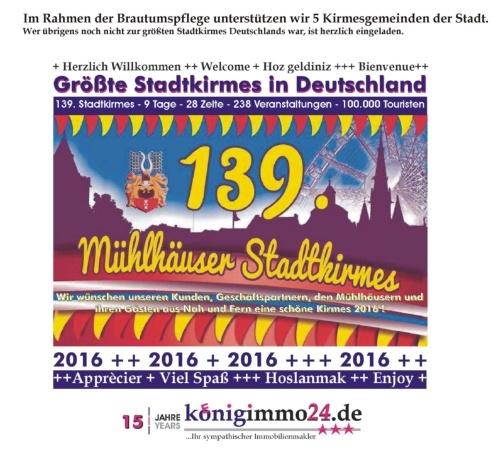 139. Mühlhäuser Stadtkirmes 2016