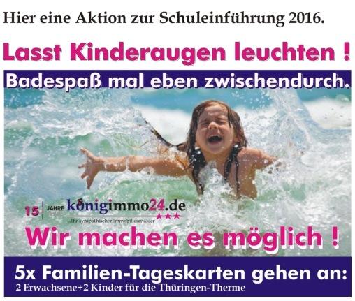 Badespaß zur Schuleinführung 2016