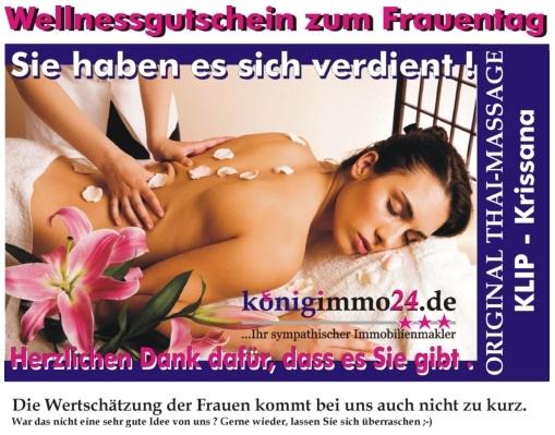 Wellnessgutschein zum Frauentag